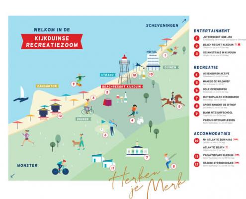 illustratieve plattegrond, festival, kijkduin