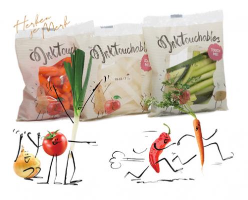 Illustratie op verpakking, pacombi