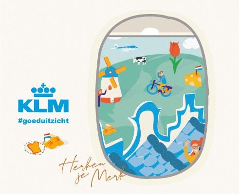Wat is illustratie, KLM, herken je merk